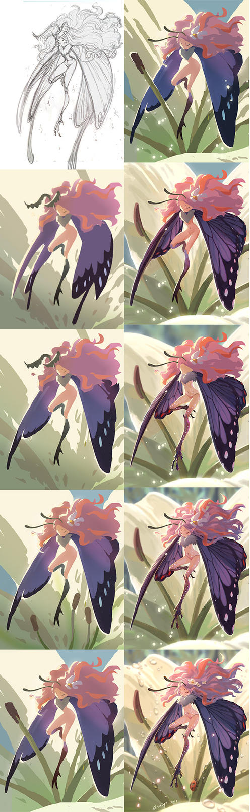 process of butterfly fairy by Evaty