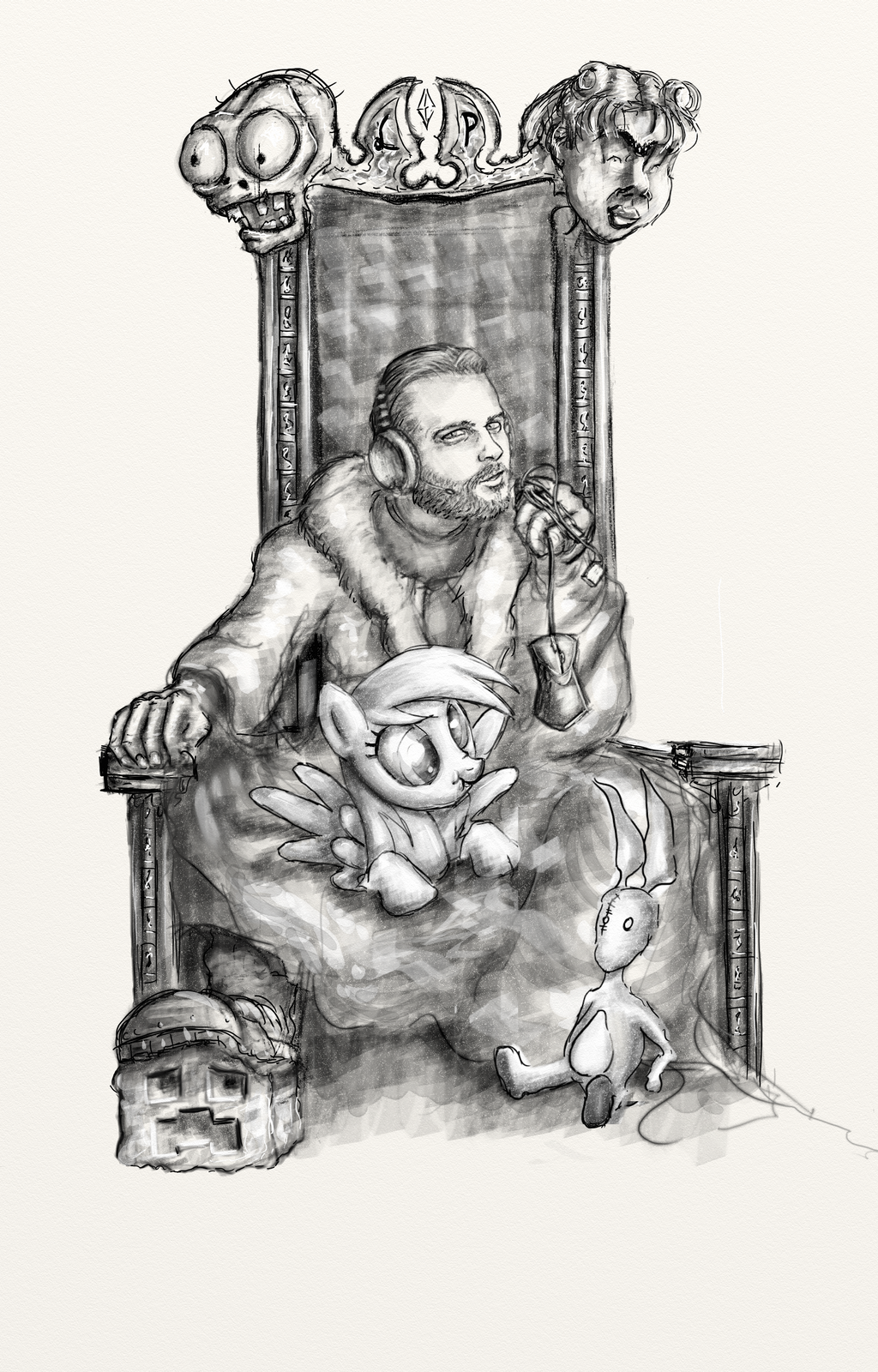 Evil King On Throne Drawing | www.imgkid.com - The Image ...