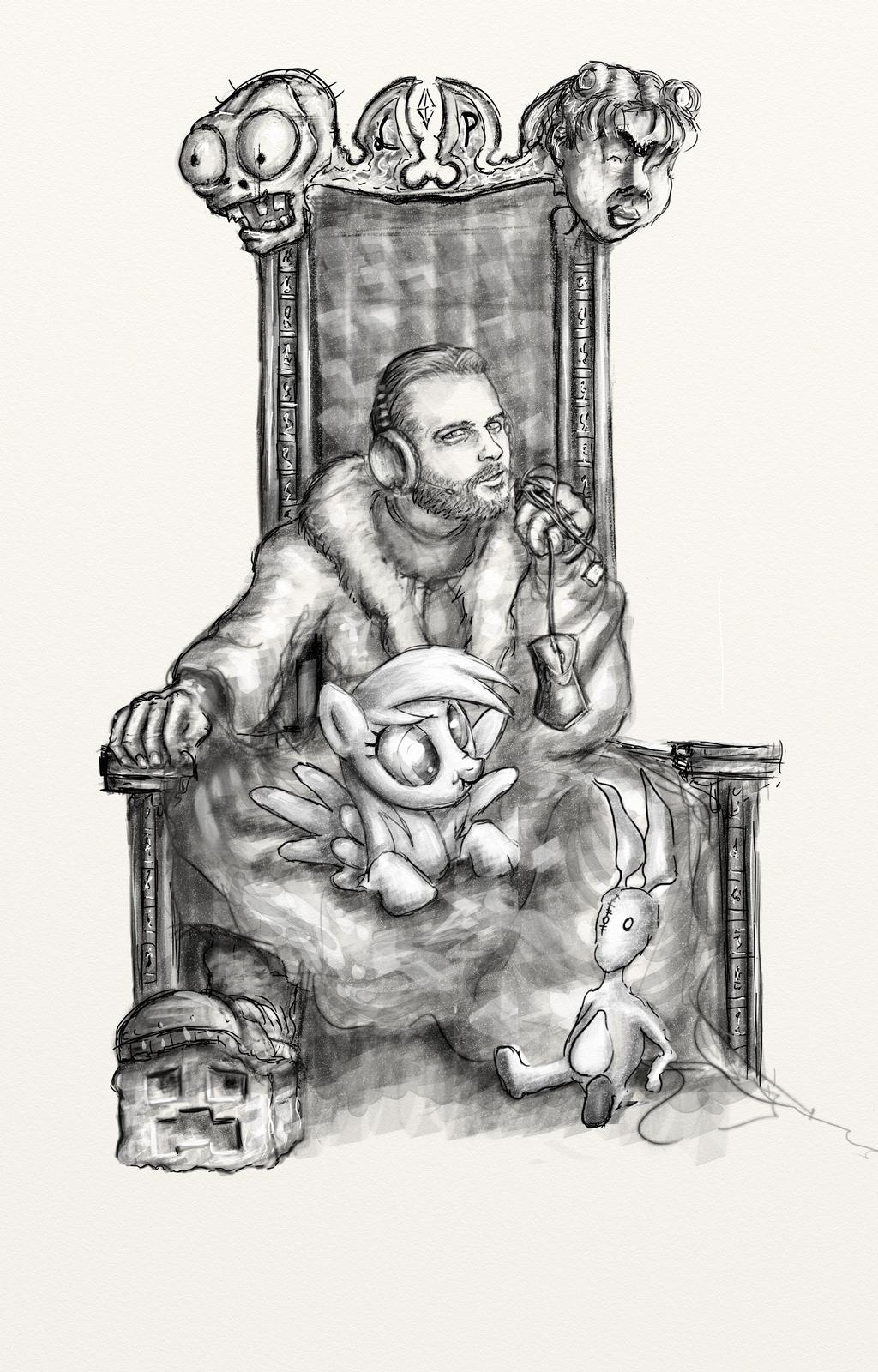 Gronkh Throne - Drawing - Fanart by Schmodel