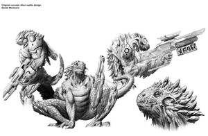 Alien Reptile Concept