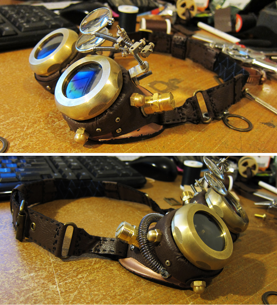 SteamPunk Goggles by xjager513