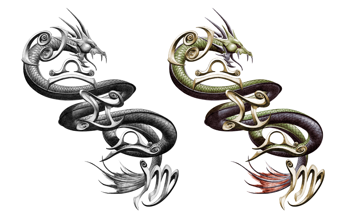 top sea serpent dragon images for pinterest tattoos