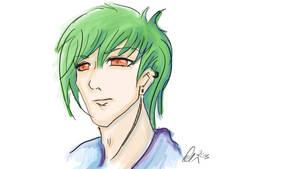 Green Hair Colour Practice