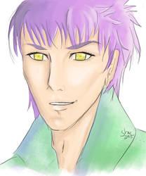 Purple Hair Portait