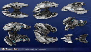 Drakojan Skies - Dual Fighter Orthrus