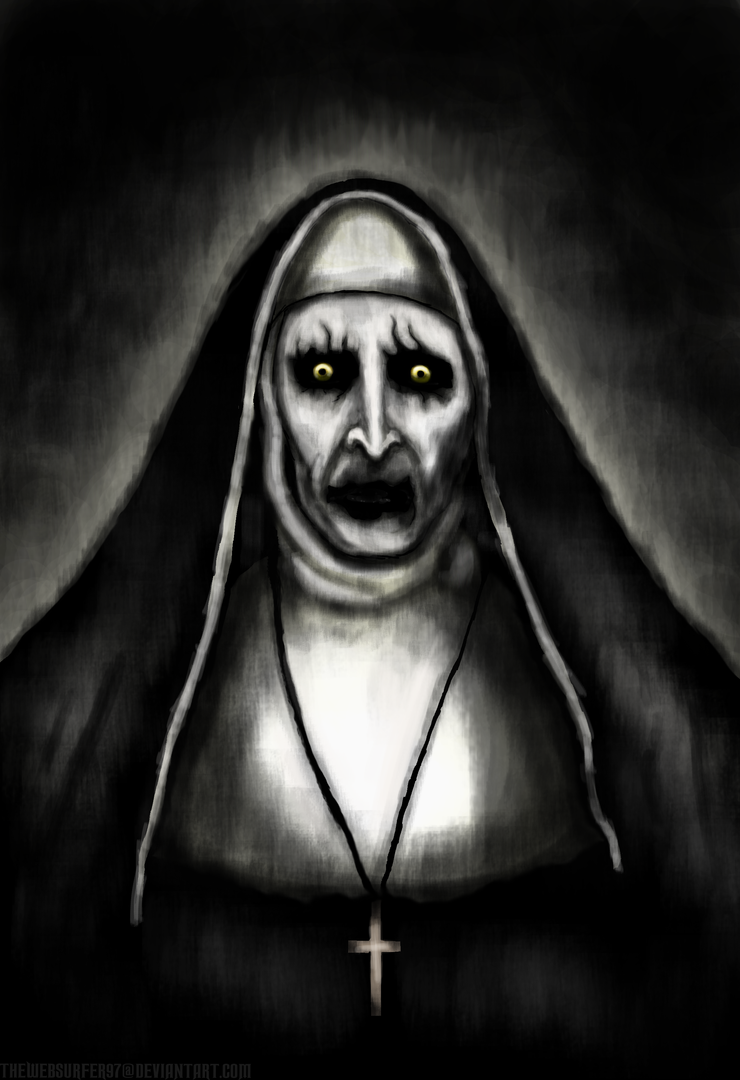 The Conjuring 2 - Nun Painting (normal) by thewebsurfer97