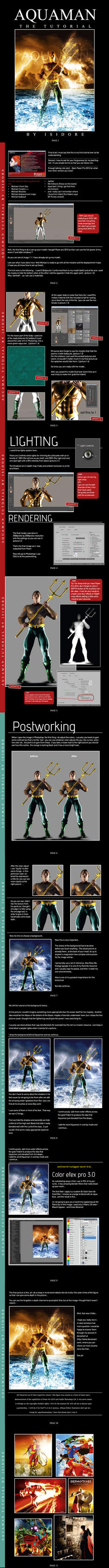 AQUAMAN 11 PAGE TUTORIAL by ISIKOL