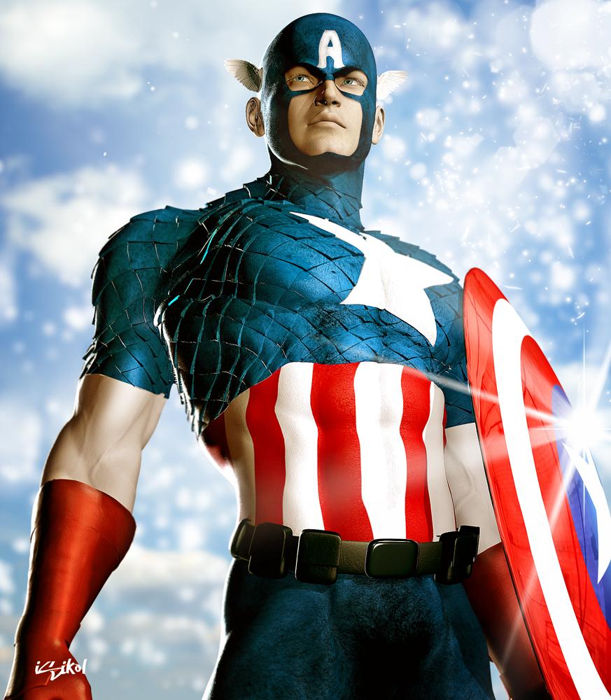 Captain america inspired artwork - Image captain america ...