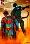SUPERMAN VS GIGALIENS