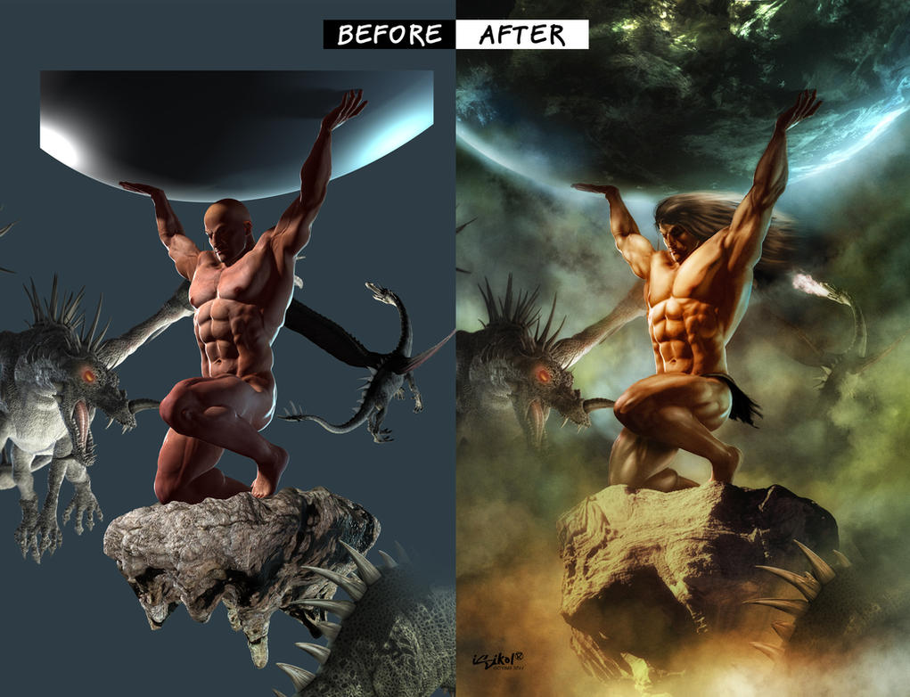 ATLAS BEFORE-AFTER POSTWORK by isikol