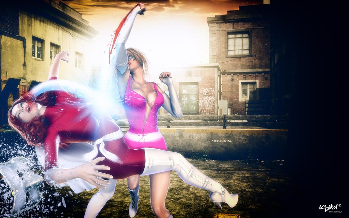 CrimsonStar VS VenomValentine by isikol