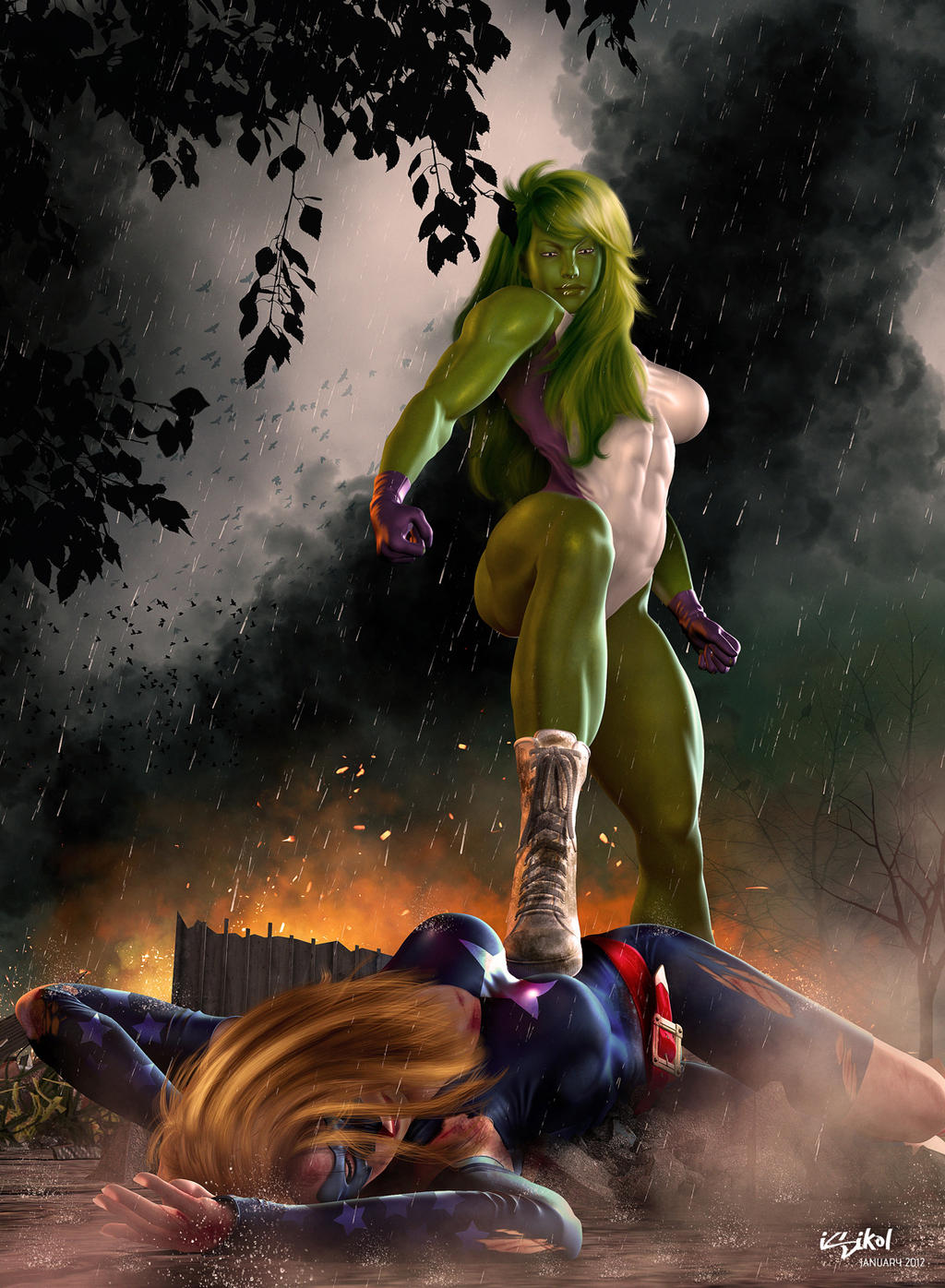 She HULK - YOU ARE NO MATCH FOR ME! by isikol
