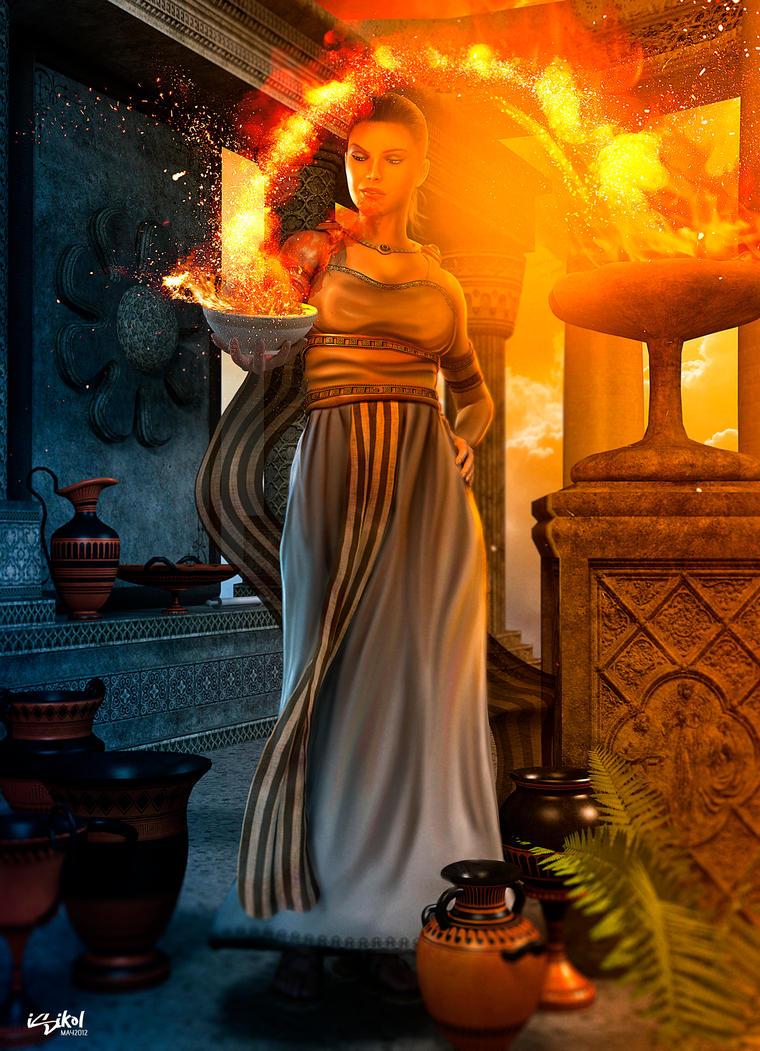 hestia greek gods project by isikol on deviantart