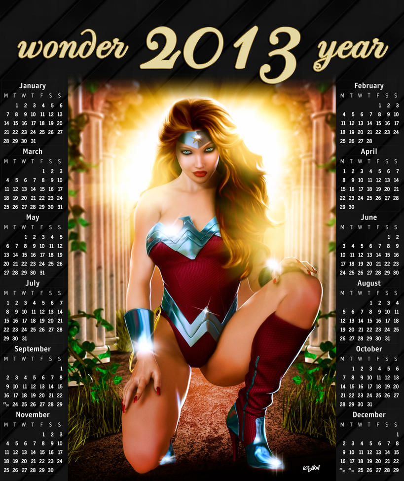 WONDERWOMAN 2013 CALENDAR - A GIFT by isikol