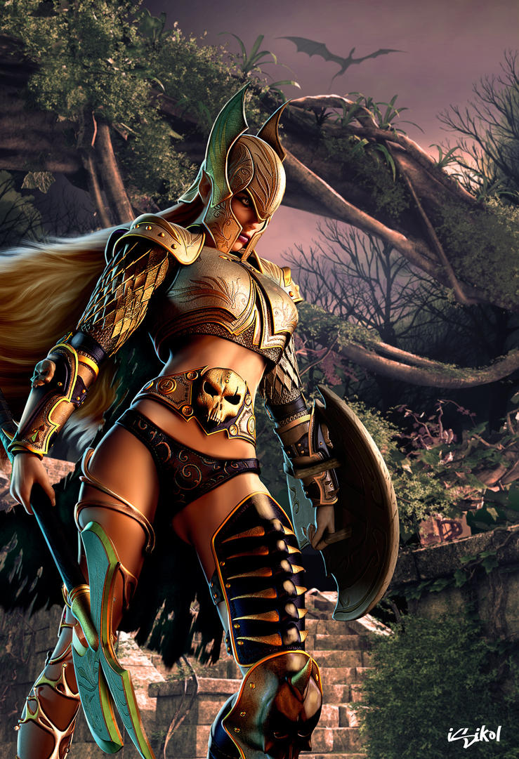 THE WARRIOR ELF AT FANGORN FOREST by ISIKOL