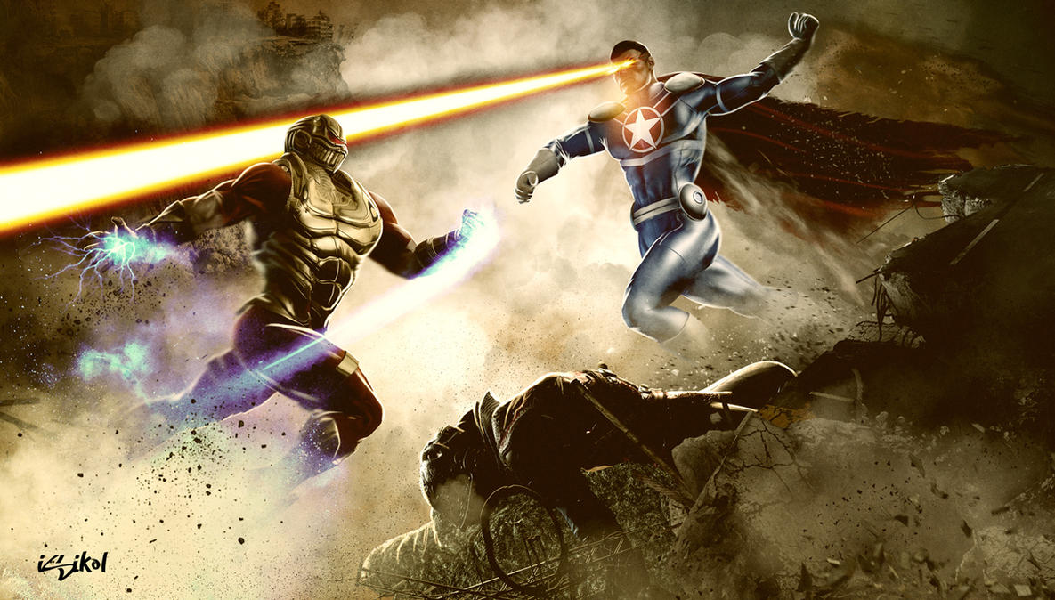 INJUSTICE - RUINATION VS PATRIOTIC by isikol