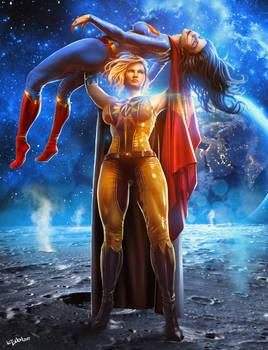 Nuclear woman vs Superwoman