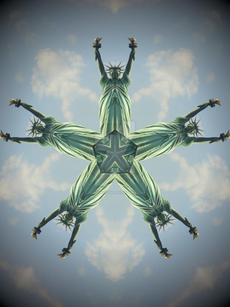 Statue of Liberty - Mandala by asht0n112358
