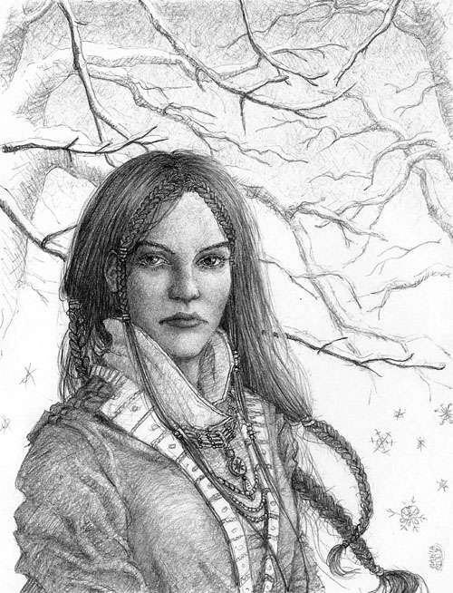 Winter portrait by Nawia