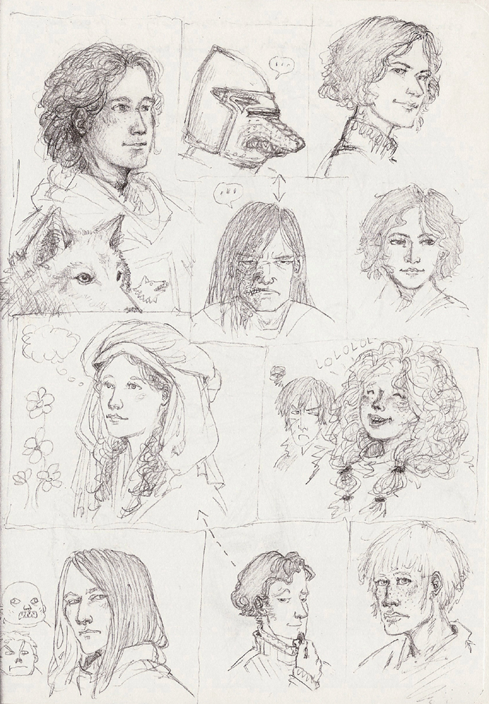 ASoIaF doodles by Nawia