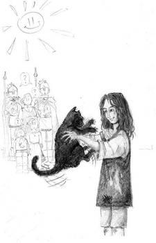 Arya with cat
