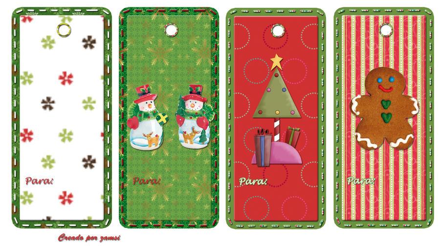 Etiquetas para regalos de navidad by zamsi on deviantart - Como hacer tarjetas de navidad ...