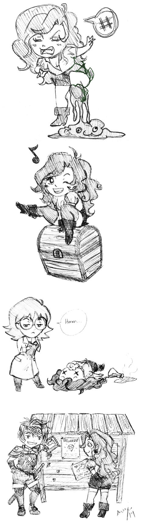 Infinity Tower Sketch Dump by Rainbow-Grenade