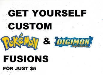 Get yourself Custom Pokemon/Digimon Fusions for ju