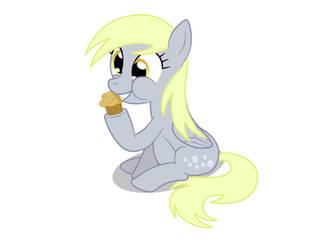 Derpy loves her muffins by Birdco