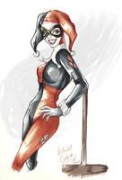 'Hey Mr.J' -Harley Quinn by LalaKachu