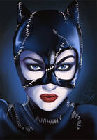 Michelle Pfeiffer as Catwoman by LalaKachu