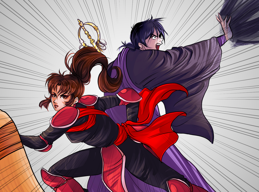 Sango and Miroku by Kachumi