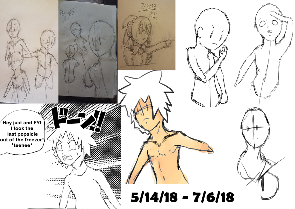 Practice Sketches and Unfinished WIPs 001 by Mistarooni