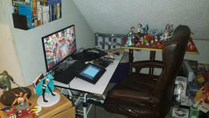 Current Desk and Setup by Mistarooni