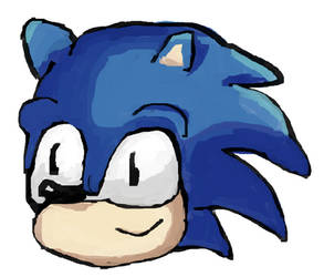 Sonic head Drawn with a mouse