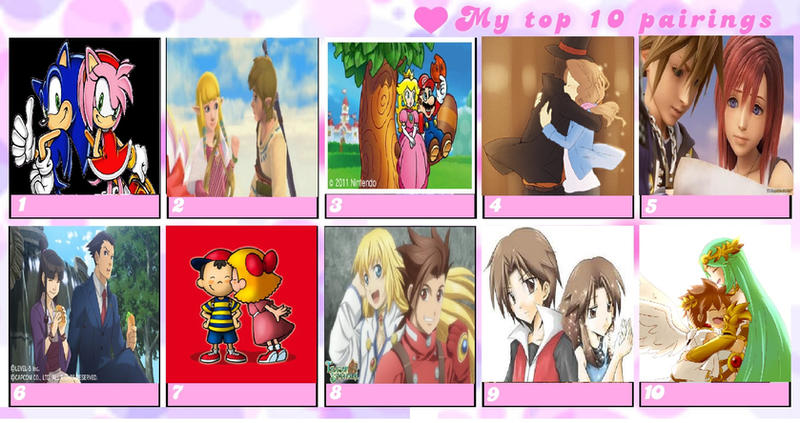 Top video Game Couples by Furball-Sonic