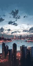 Hong Kong Evening by SteveAhn