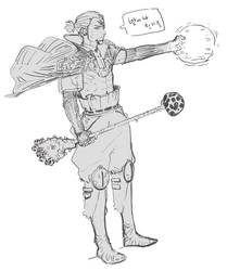 daily drawing 05.02.16 _ Mushroom Magician by SteveAhn