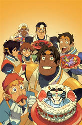Voltron NYCC Exclusive Comic Book Cover by SteveAhn