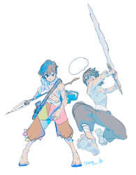 Two Barbarian Teens