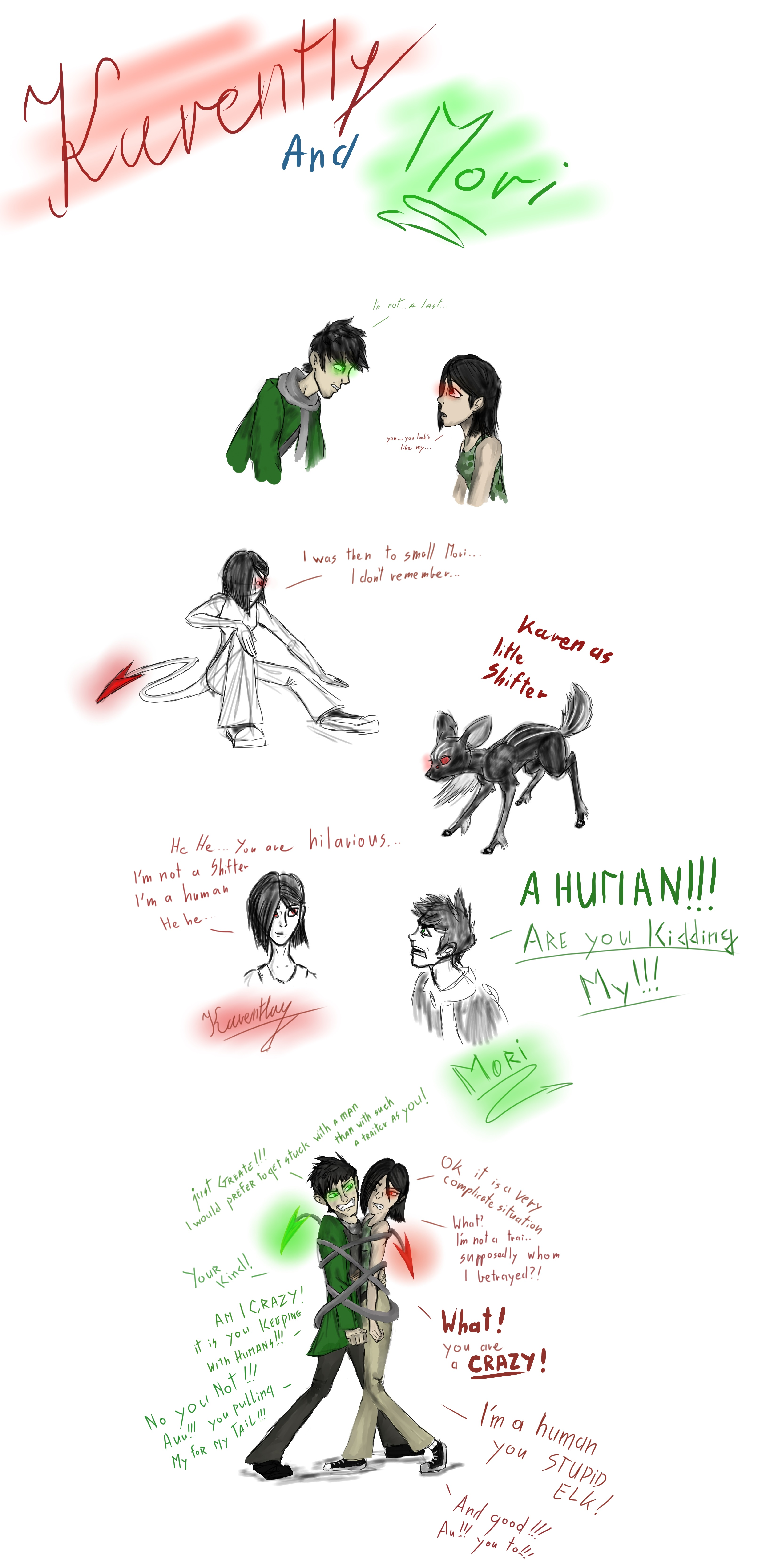 ROTG: Shift ,(Another Shifter)Mori and Karentlay by lightbluesskrill