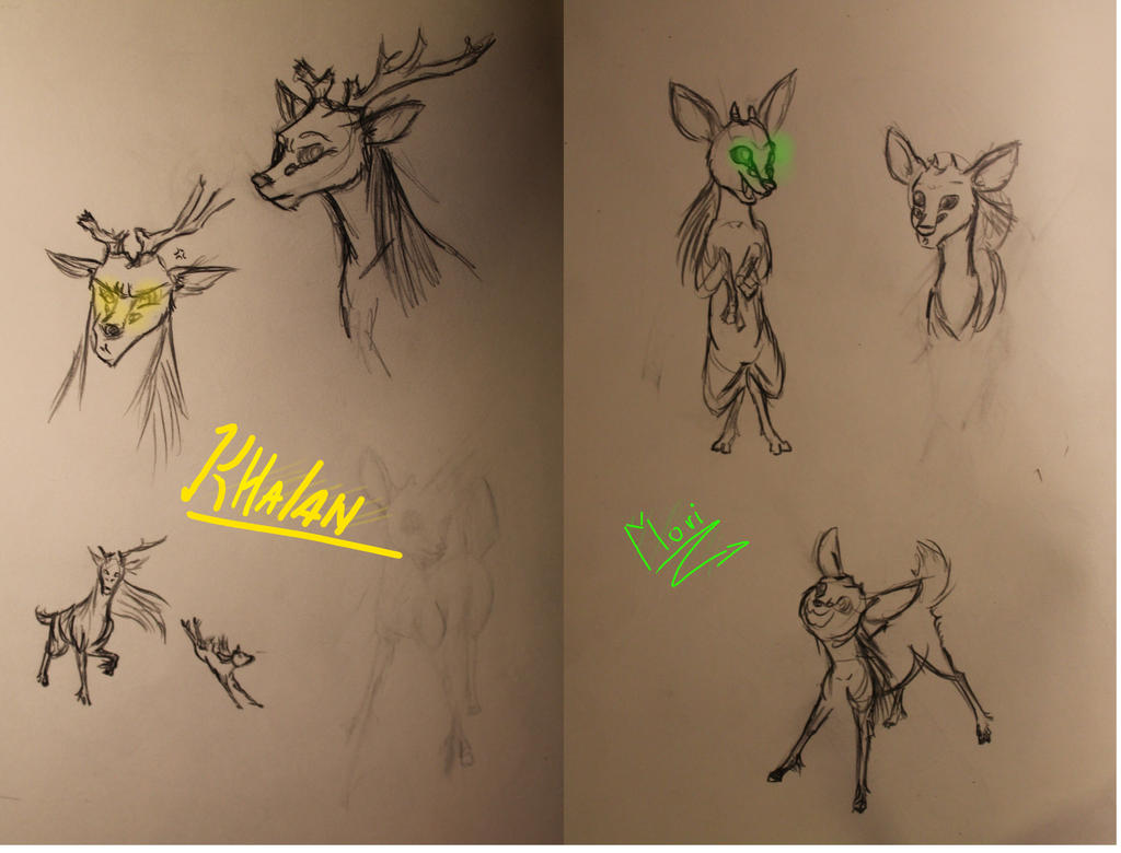 ROTG: Shift fan art: Mori and Khalan fast sketch by lightbluesskrill