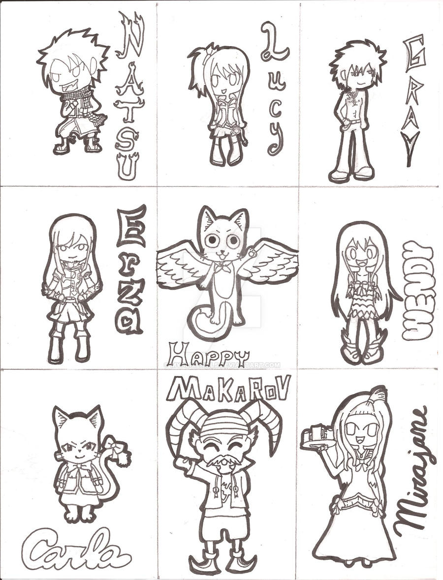 Fairy Tail Sheet Outline By MyAliceKills