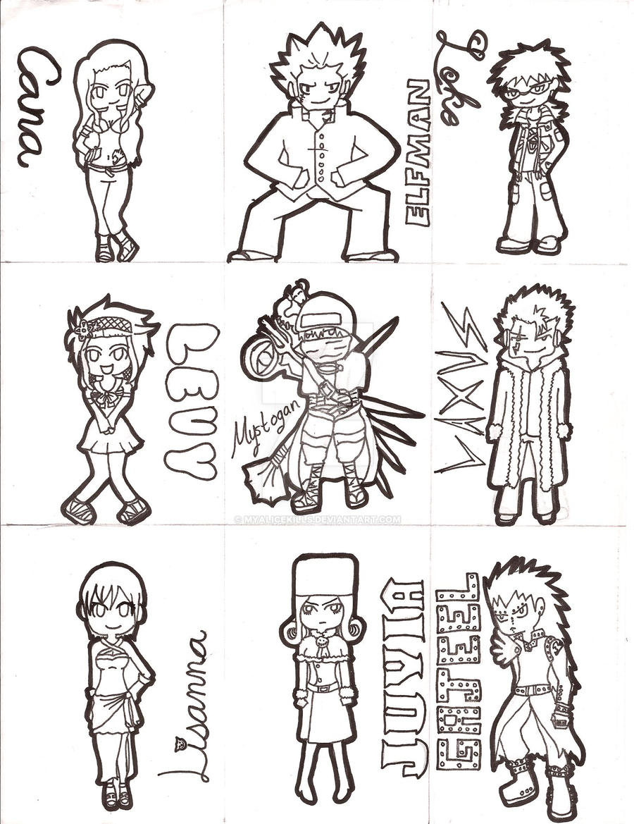 Fairy Tail Sheet Outline 2 By MyAliceKills