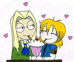 Sweet Integra and Seras by pitchperfect