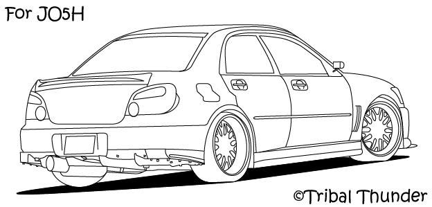 Subaru Wrx Sti Coloring Page Coloring Pages
