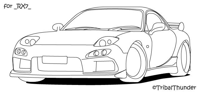 Mazda RX7 Front by tribalthunder on DeviantArt