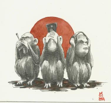 les 3 singes modernes...