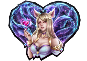 K/DA Ahri Sticker Design by VexingYA