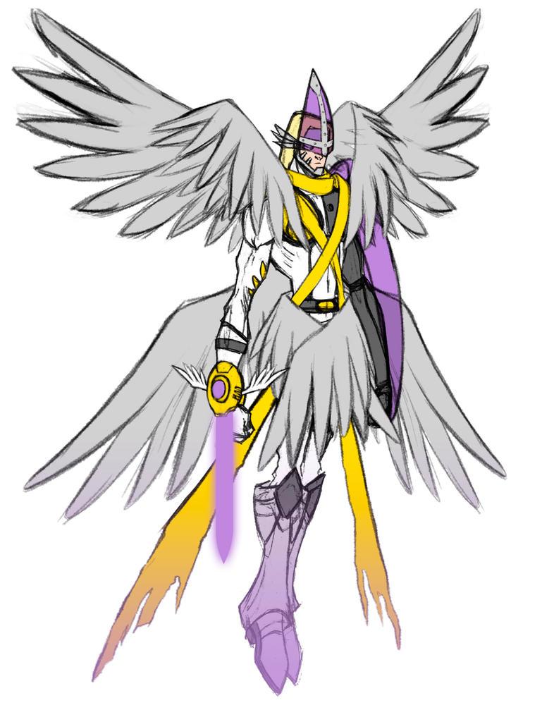 holy angemon wip by jkim910 on deviantart
